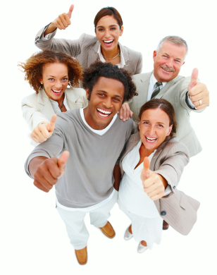 Picture of happy people illustrating Life coaching and performance coaching