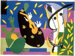 Matisse - Painting with scissors